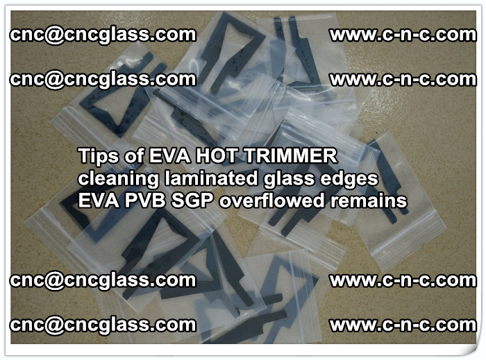 Tips of EVA HOT TRIMMER cleaning laminated glass edges  (49)