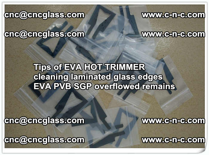 Tips of EVA HOT TRIMMER cleaning laminated glass edges  (50)