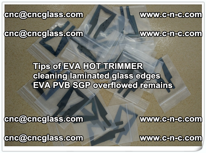 Tips of EVA HOT TRIMMER cleaning laminated glass edges  (51)