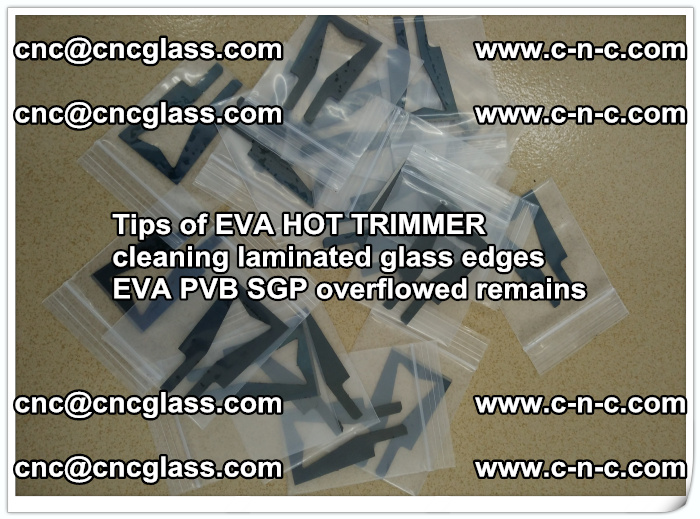 Tips of EVA HOT TRIMMER cleaning laminated glass edges  (52)