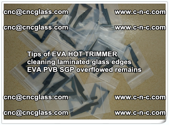 Tips of EVA HOT TRIMMER cleaning laminated glass edges  (53)