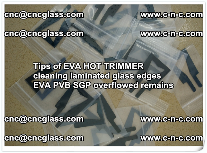 Tips of EVA HOT TRIMMER cleaning laminated glass edges  (55)