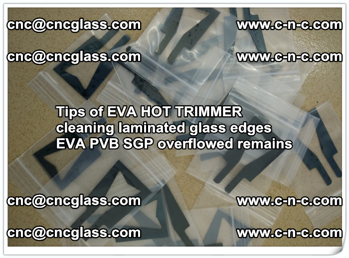 Tips of EVA HOT TRIMMER cleaning laminated glass edges  (56)