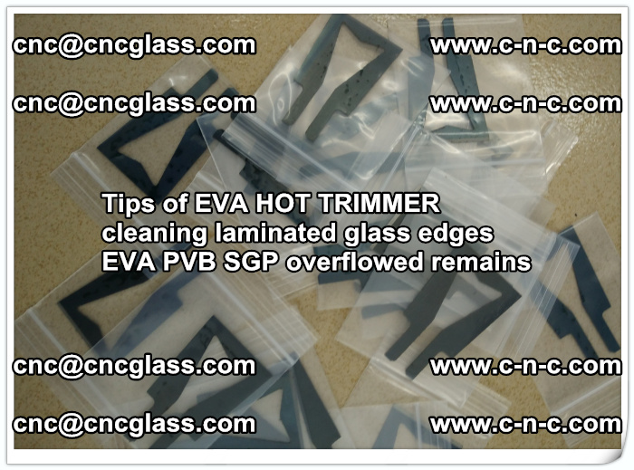 Tips of EVA HOT TRIMMER cleaning laminated glass edges  (57)