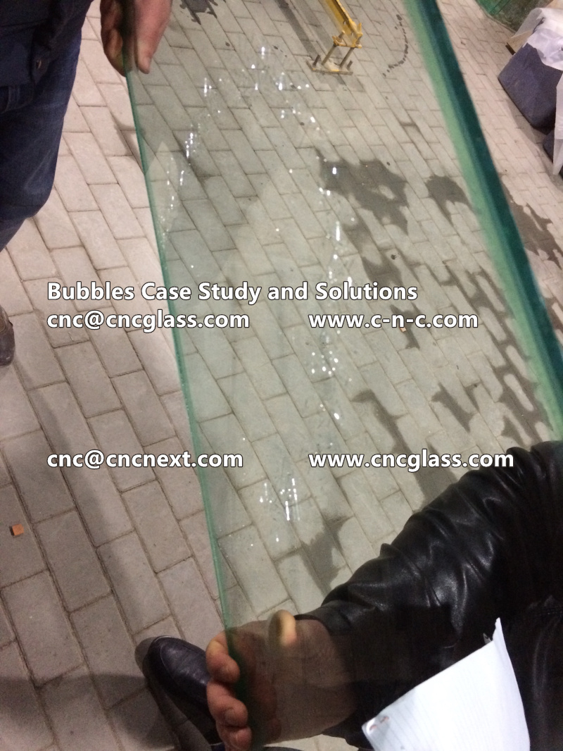 Bubbles Because Of Bad Vacuuming, EVA Laminated Glass Safety Glazing Case Study and Solutions By Peter Lin (2)