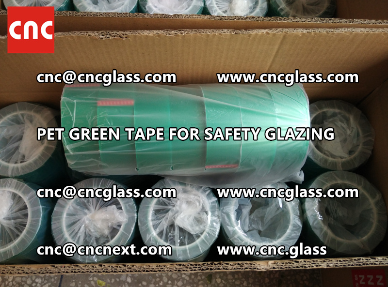 HIGH TEMP GREEN TAPE for safety glazing eva pvb sgp (15)