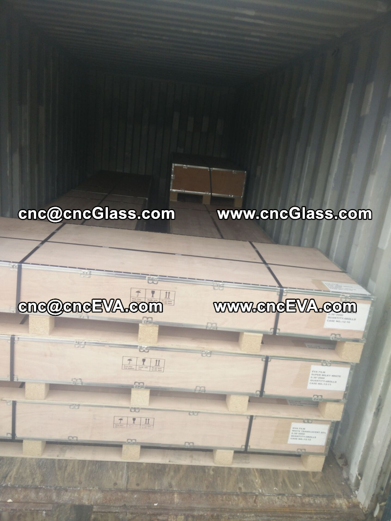 plywood case packing of eva film interlayer for lami glass (1)